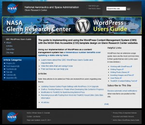 NASA Glenn WordPress Theme Uses Genesis
